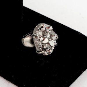 NWOT Adjustable iron pyrite ring - large!